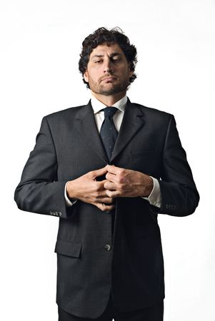 very important businessman, boss over white background Stock Photo