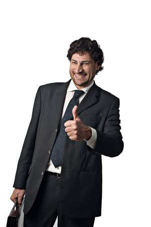 happy businessman with a big smile