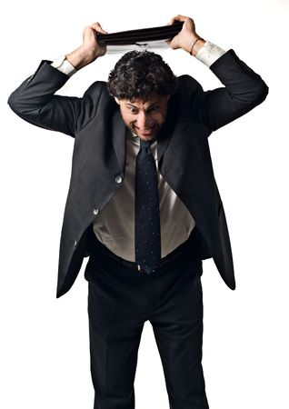 furious businessman in a rage  Stock Photo