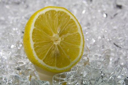 citron: fresh citron on cold ice