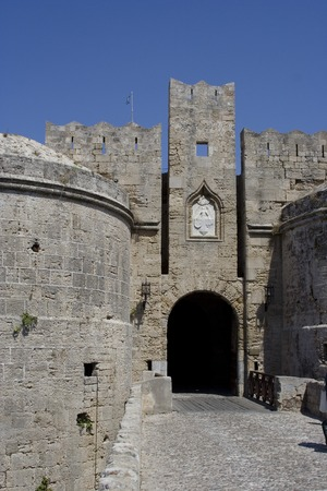 woll: the city wall of rhodes city Stock Photo