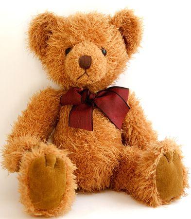 teddy bear: Teddy Bear sesi�n con arco  Foto de archivo