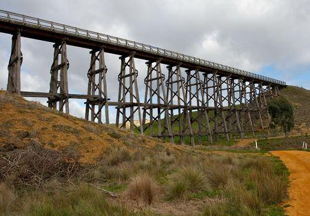 trestle: Wooden Railway Trestle Bridge