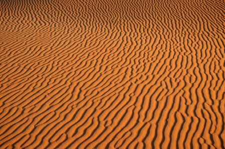 sandbank: Sand Pattern in the Sahara Desert, Morocco Stock Photo