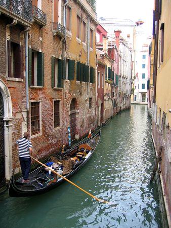 gondola on venice canal photo