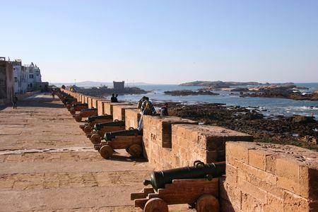 parapet: Fortress wall, Essaouira, Morocco