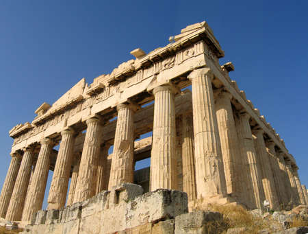 ancient relics: Acropolis, Athens, Greece Stock Photo