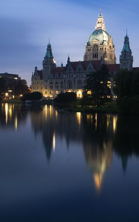 rathaus in hannover Stock Photo