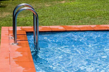 Detail of swimming-pool Stock Photo