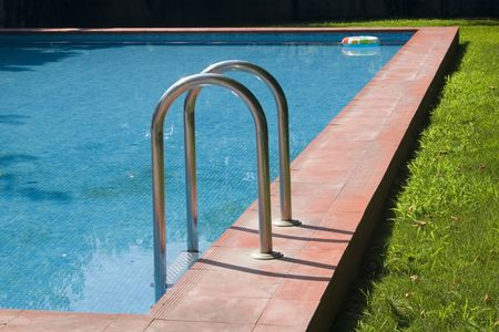 Detail of a swimming-pool Stock Photo