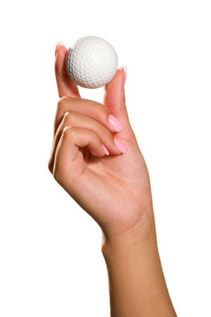 hand holding a white golf ball isolated Stock Photo - 550966
