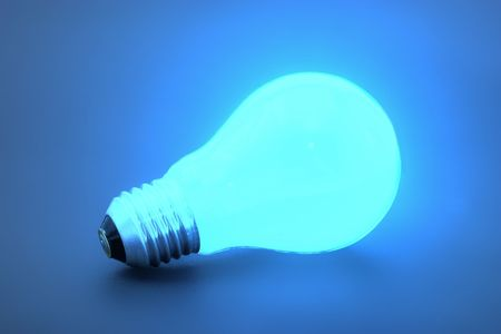 Isolated light bulb with cipping path