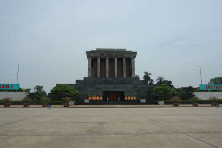 mausoleum: Hanoi Ho Chi Minh Mausoleum Stock Photo