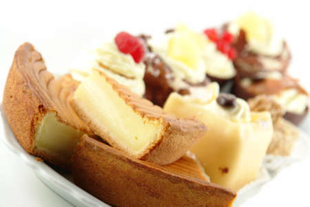 indulgent: Plate of pastries with various delicious desserts