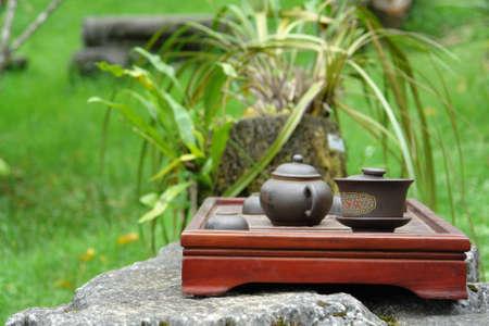 Tea time pottery Stock Photo