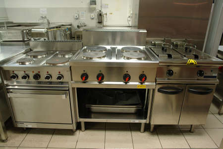 Professional cooking range Stock Photo