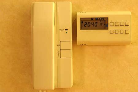 celcius: Door opener and heating controller Stock Photo