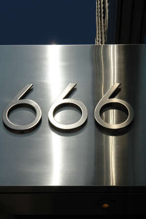 omen: 666 the number of the beast Stock Photo
