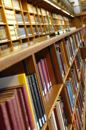 Library Books in  the New York Public Library the centre big room Stock Photo