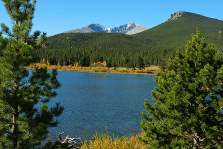 longs peak: Lily Lake and Longs Peak; Rocky Mountain National Park, Colorado
