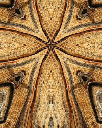 kaleidoscope cross:  wood grains  photo