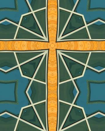 crux: kaleidoscope cross: Heritage Center, Beatrice, Nebraska