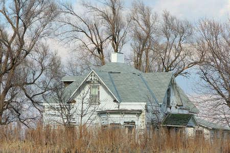 nebraska: abandoned farmhouse, rural Nebraska