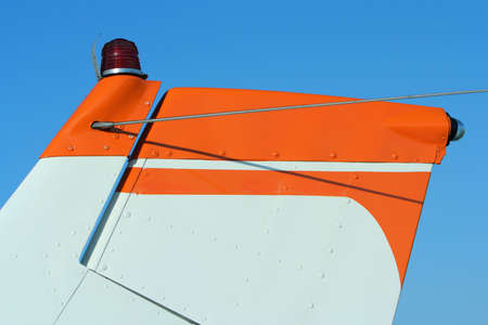 stabilizer: tail section of small plane; vertical stabilizer and rudder