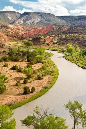 Rio Chama, north of Abiquiu, New Mexico photo