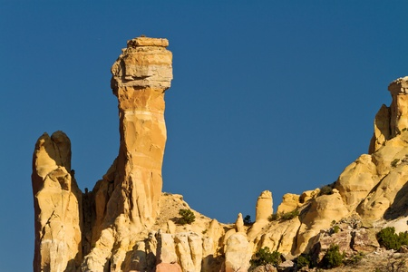 ghost rock: Chimney Rock, near Ghost Ranch, New Mexico