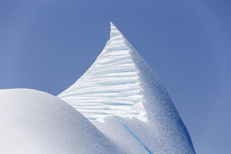 frigid: sculpted iceberg near St  Anthony, Newfoundland, Canada