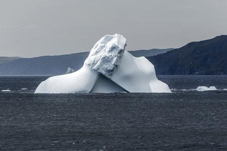 frigid: iceberg in Atlantic Ocean near Goose Cove, Newfoundland