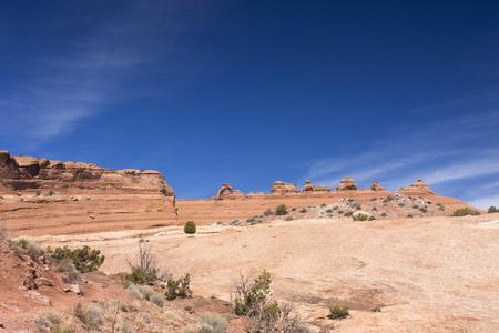 delicate: landscape around Delicate Arch, Utah