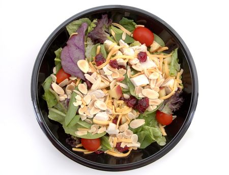 A healthy fast food salad. (Isolated, 12MP camera) Stock Photo