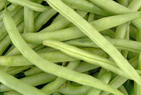Snap Green Beans (12MP camera,macro) Stock Photo