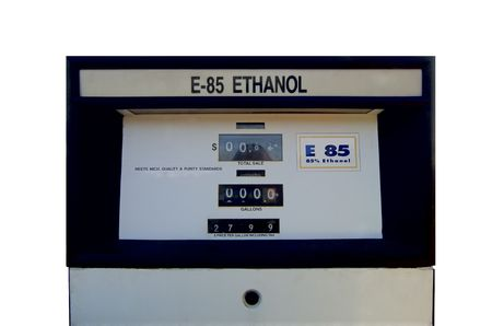 hard to find: Real, very hard to find ETHANOL fuel pump (alternative fuel). Isolated, 12MP camera.