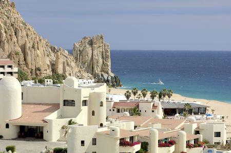 A resort in Cabo San Lucas, Baja California Sur, Mexico beside Finesterra Rock. 12MP camera.