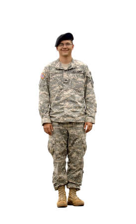 military uniform: A real U.S. Army Soldier, Sergeant.