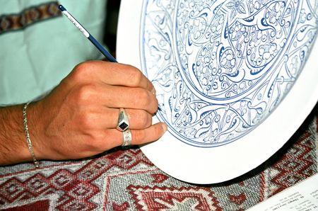 � fond: Artisan d�coration orientale style plaque