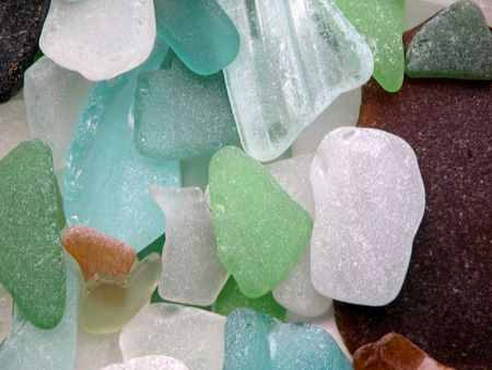 matted: Colorful matted glass stones from Baltic sea, Lithuania
