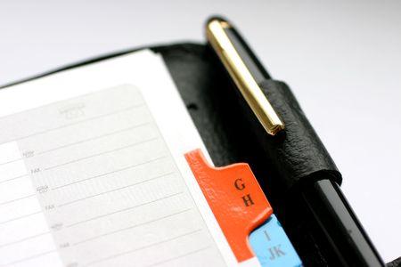 Address book with alphabet and pen closeup Stock Photo - 868727