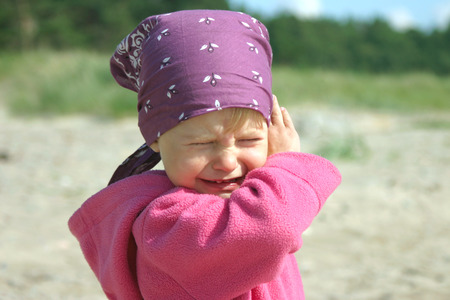 Angry 2-3 years old girl crying   Stock Photo - 1518515