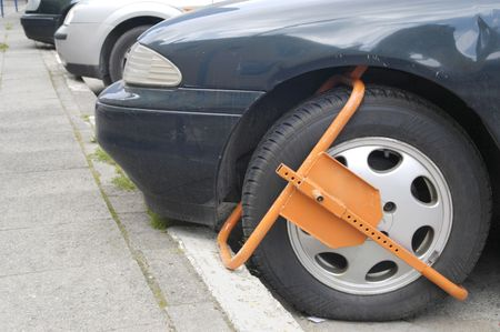 restricted: Clamped front wheel in restricted area