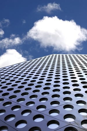 doted: Doted architecture detail against blue sky