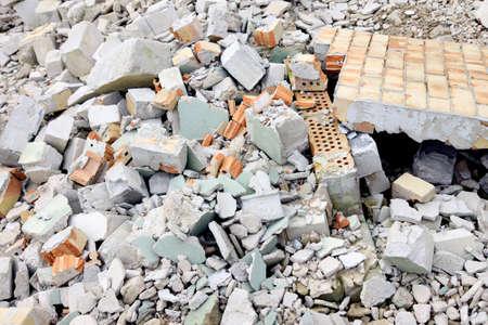 Construction debris, good natural background