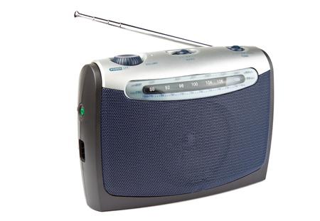 shortwave: Portable radio set isolated on white background