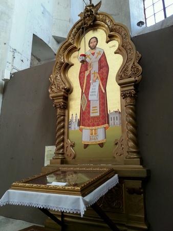 ortodox: Altar in ortodox church Stock Photo