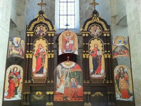 ortodox: Altar in ortodox church in Vilnius, Lithuania