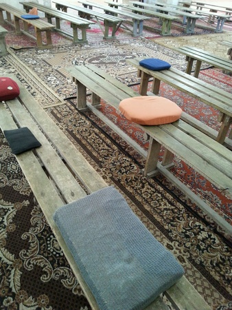wor: Simple seats at the church