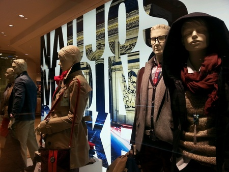 Mannequins on window display